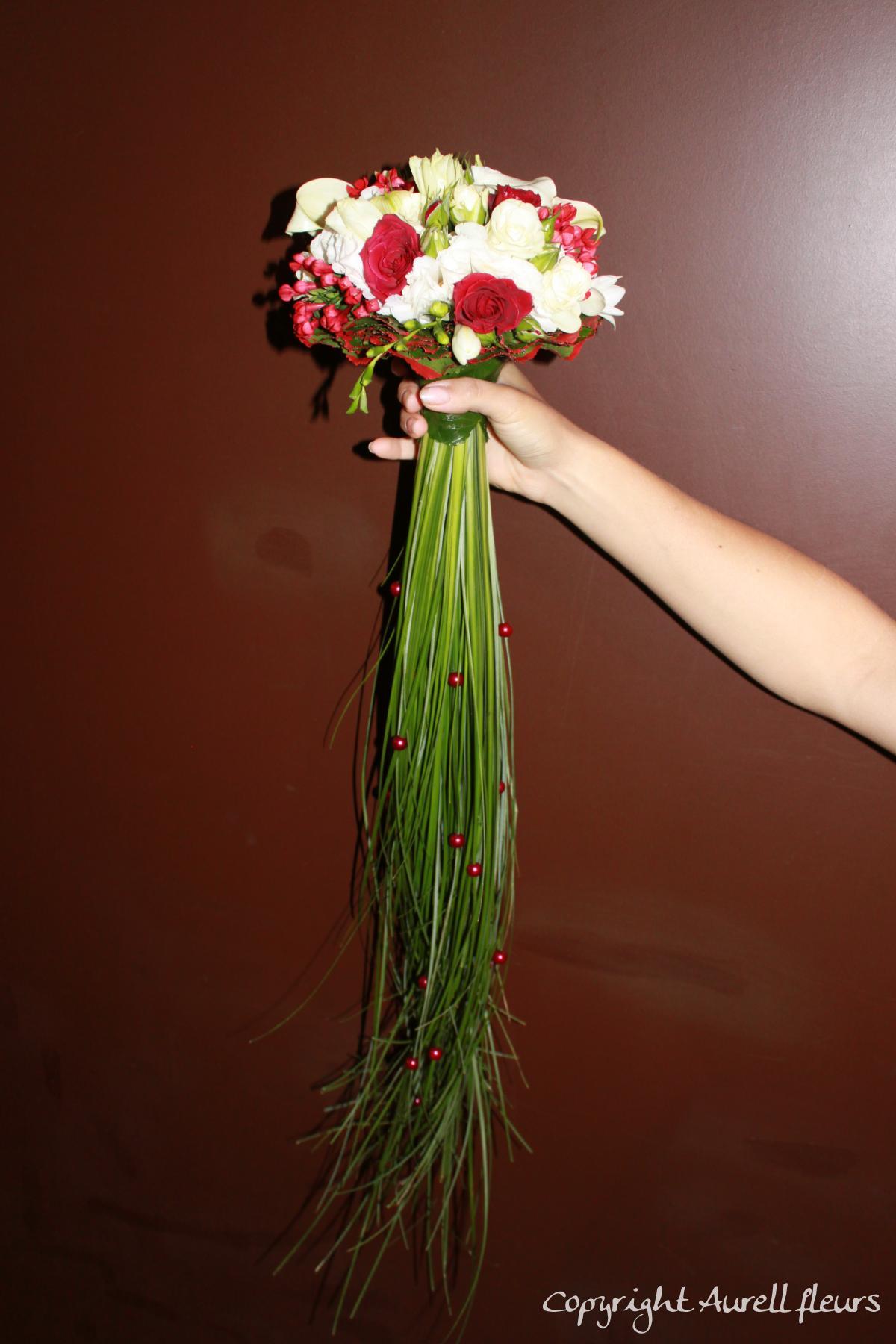 bouquet rond mariee à Saint-Jean-de-Braye | Aurell fleurs
