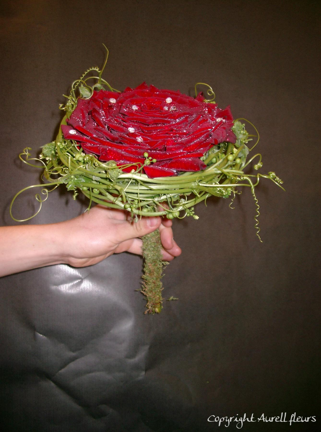 bouquet_rose_reconstitueue à Saint-Jean-de-Braye | Aurell fleurs